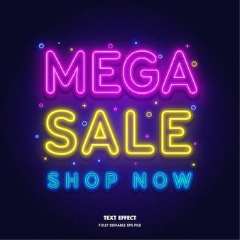 Mega sale shop now text effect