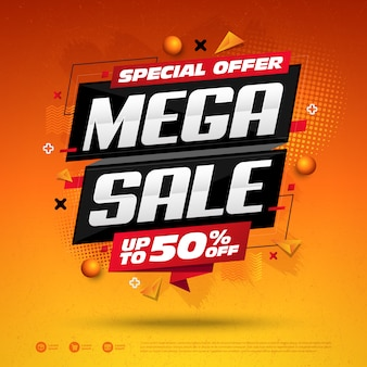 Mega sale специальное предложение square design