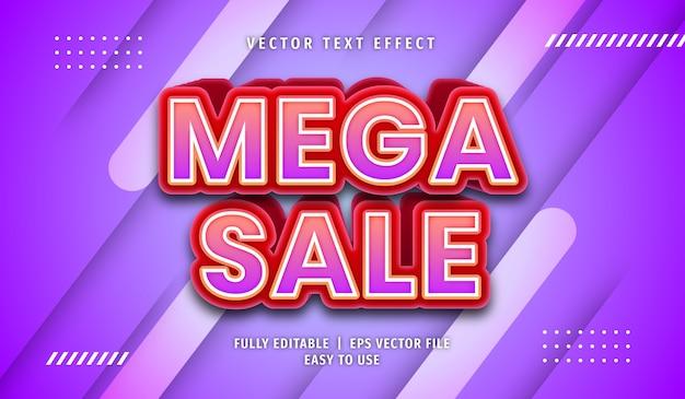 Mega sale text effect editable text style