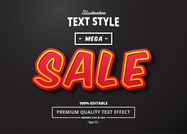 Mega sale text effect