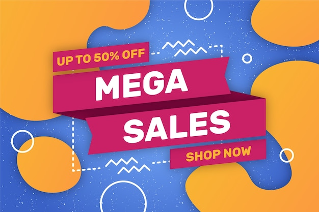 Mega sales shop now background