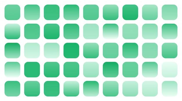 緑のグラデーションシェードの組み合わせのメガセット