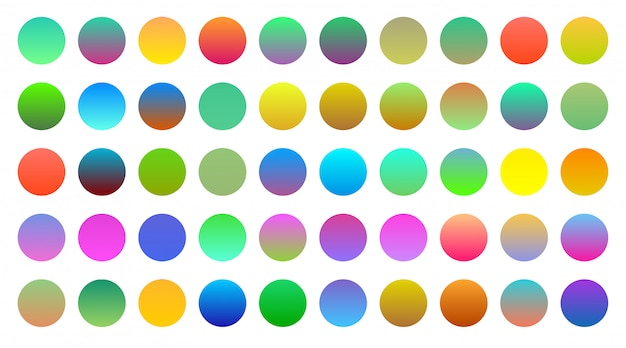 Mega set of vibrant colorful gradients