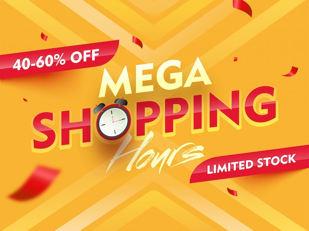 Mega shopping time hours sale.