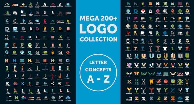 Коллекция логотипов mega