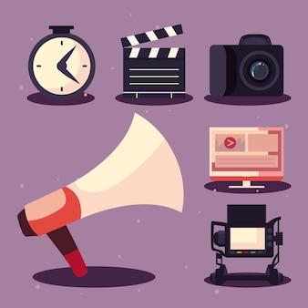 メガホンとビデオ制作のアイコン