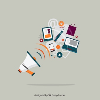 Megaphone and business equipment