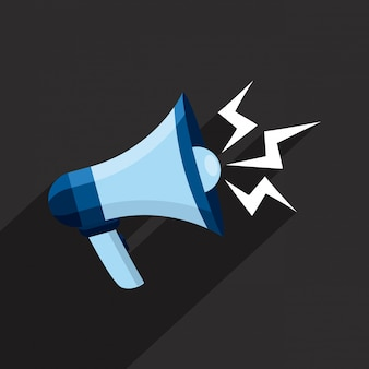 Megaphone design over gray background vector illustration