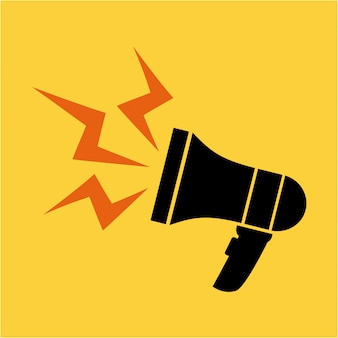 Megaphone design over yellow  background vector illustration