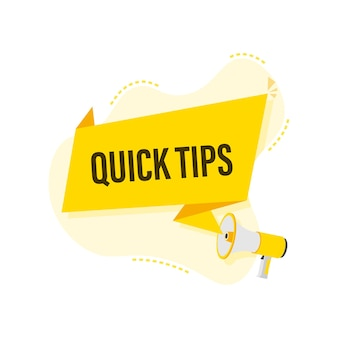 Megaphone hand, business concept with text quick tips