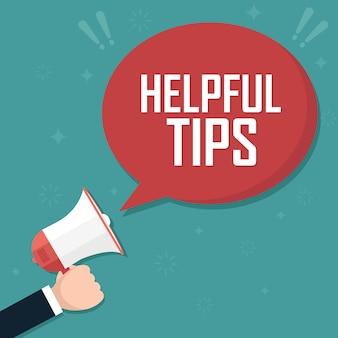 Megaphone helpful tips.