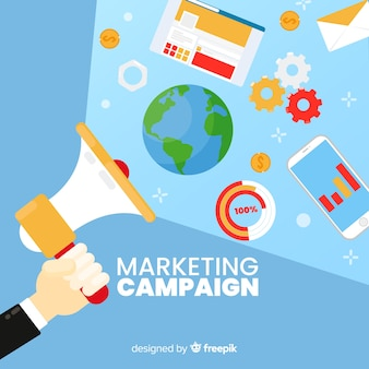 Megaphone marketing campaign background