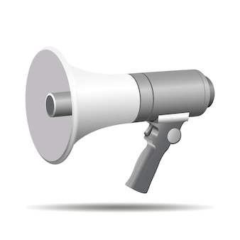 Megaphone speaker 3d vector illustration