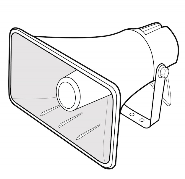 Megaphone speaker vector design illustration template