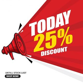 Megaphone today discount banner