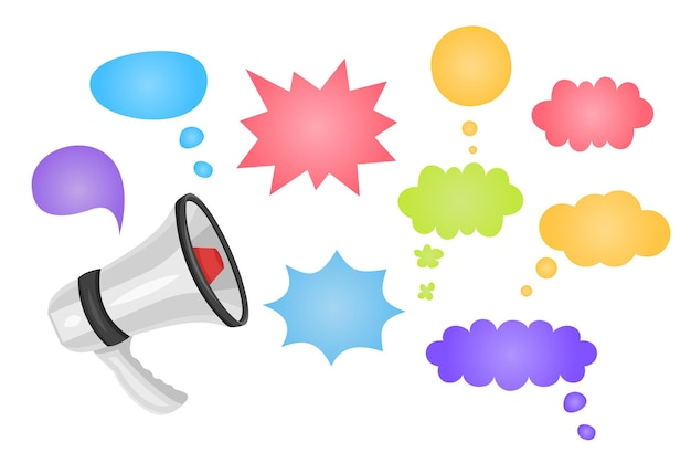 Megaphone with special offer speech bubble loudspeaker special offer banner for business