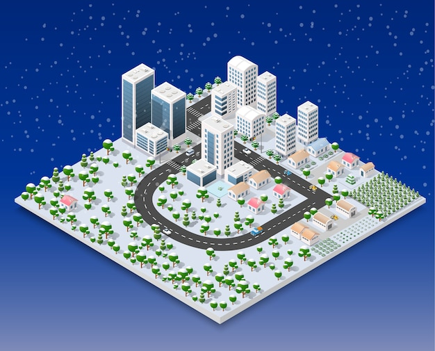 Megapolis 3d isometric