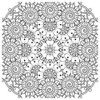 一時的な刺青花装飾飾りエスニックオリエンタルスタイル落書き飾りアウトライン手描き