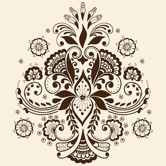 Иллюстрация орнамента mehndi