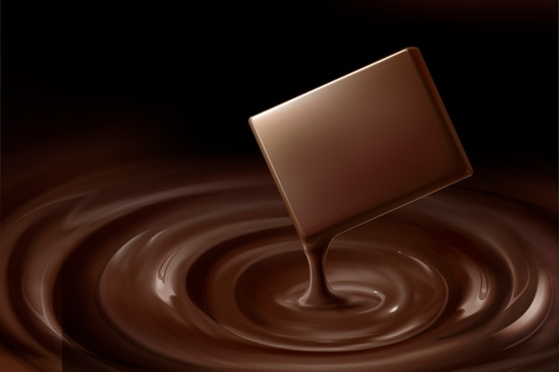 Mellow chocolate and dripping sauce