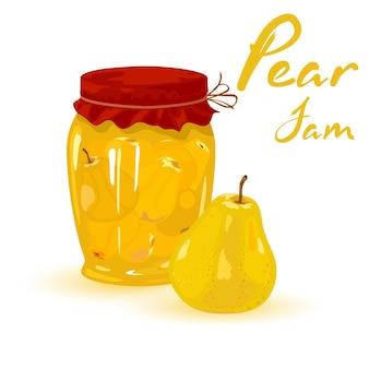 ガラスの瓶に缶詰にされたまろやかな夏の果物、収穫、お茶のためのビタミン化されたシロップ。
