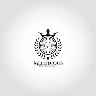 Melodious - королевский музыкальный логотип