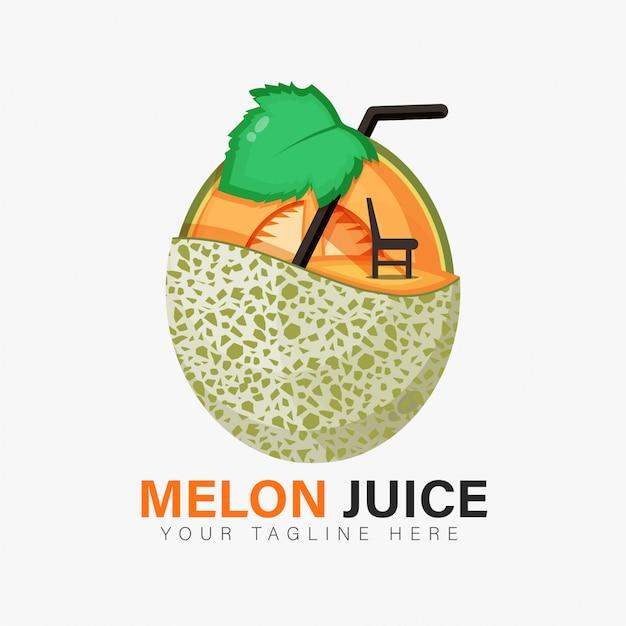 メロンジュースのロゴデザイン