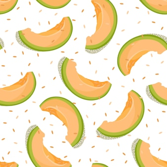 Melon slice seamless pattern