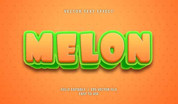 Melon text effect, editable text style