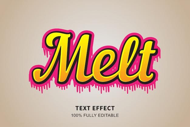 티셔츠 디자인 텍스트 효과, 편집 가능한 텍스트에 대한 녹는 스타일