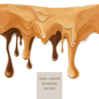Melted chocolate caramel