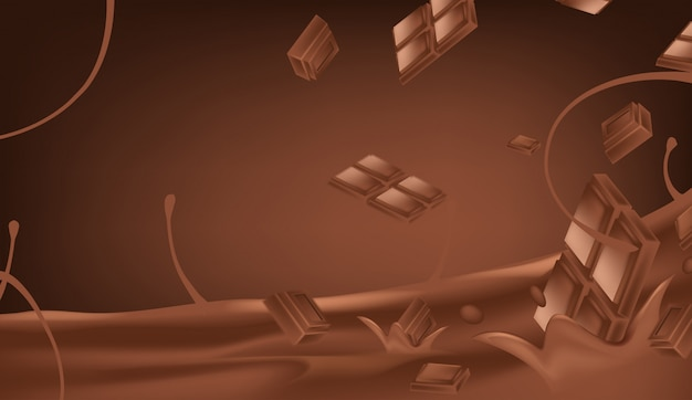 Melted chocolate vector illustration