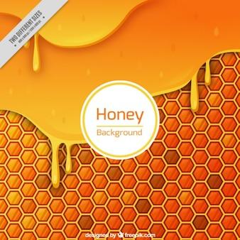 Melted honey background