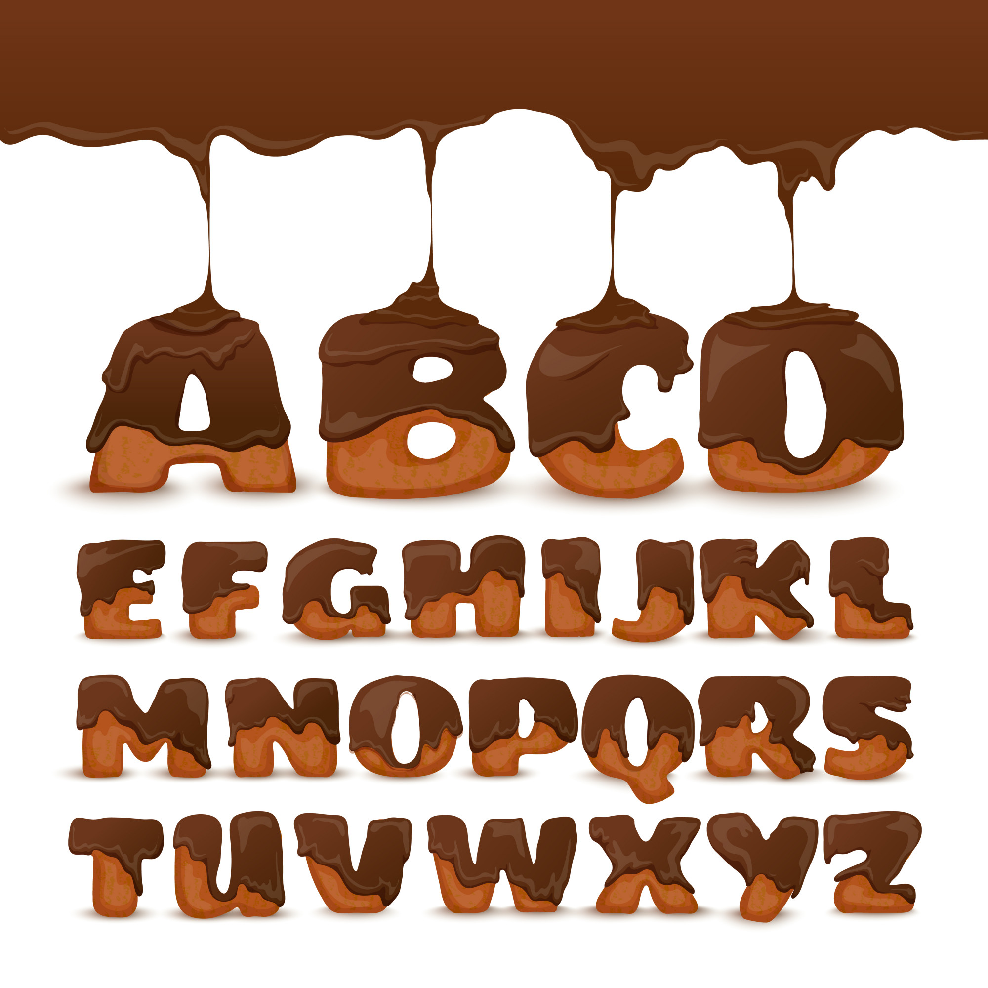 Melting Chocolate  Alphabet Cookies Collection Poster