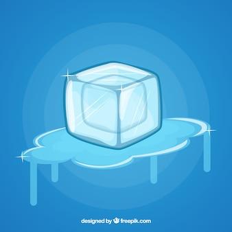 Sfondo di cubetti di ghiaccio di fusione