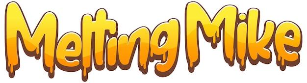 Disegno del testo del logo melting mike
