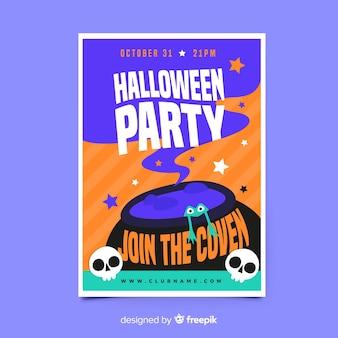 Melting pot halloween party flyer