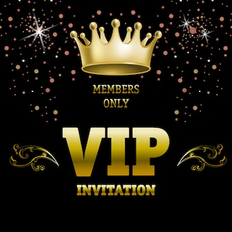 Members only vip invitation lettering