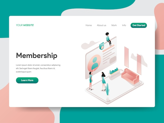 Membership for web page