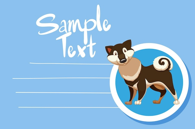 Memo note with cute dog