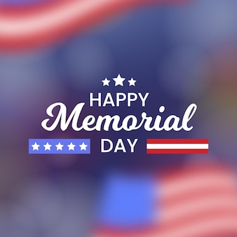 Memorial day blurred background with stars