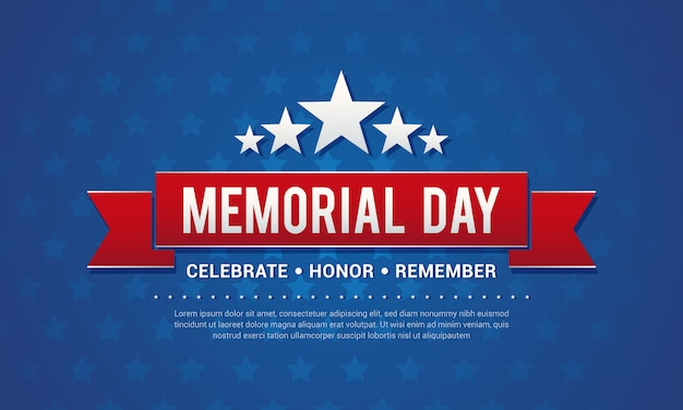 Memorial day greeting card vector illustration