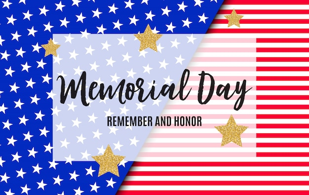 Memorial day in usa background template