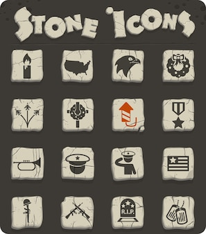 Memorial day vector icons for web and user interface design