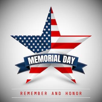 День памяти со звездой в цветах национального флага.