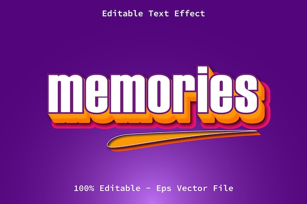 Memories with cartoon style text effect
