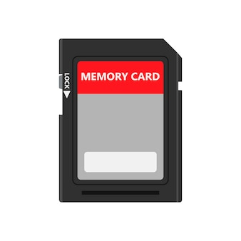 Memory card front view symbol store adapter vector icon flash drive disk.
