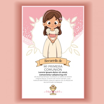 Memory of first communion girl