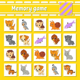 Memory game for kids.