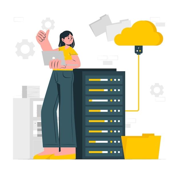 Memory storage concept illustration